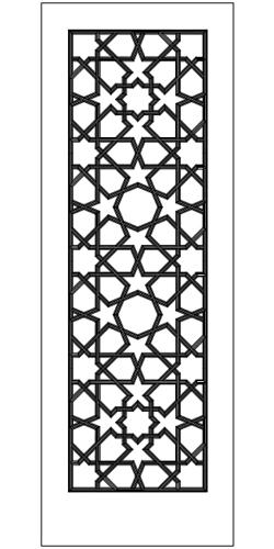 Puerta de laceria tallada